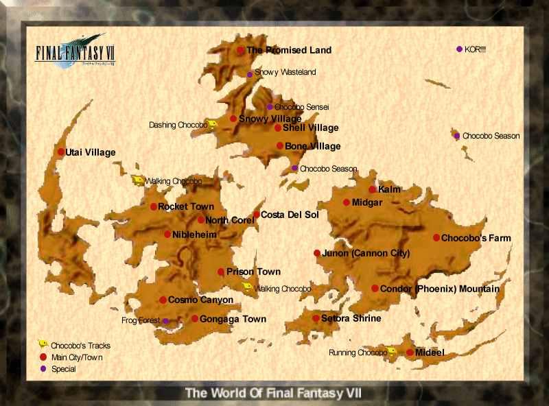 Map Quest Final Fantasy Vii 1 More Castle