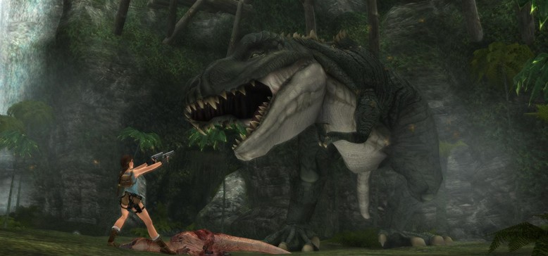 Yeah, I don't remember the t-rex or Lara's umm...being that big
