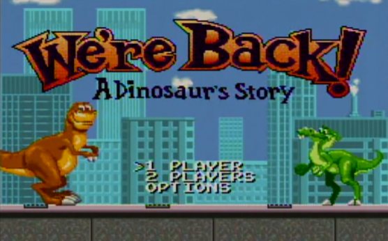 We're Back Title SNES