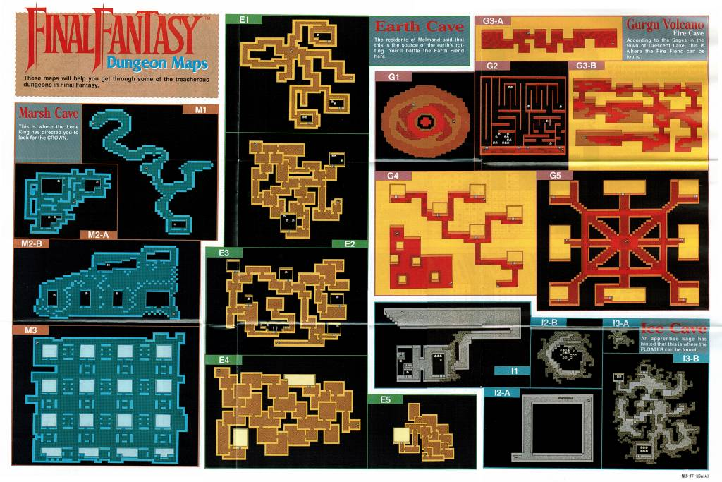 Final Fantasy - Dungeon Maps