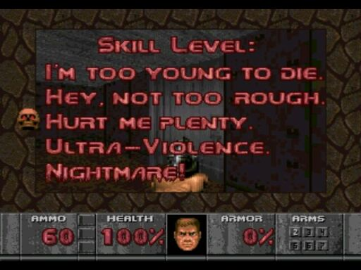 Doom - Difficulty Levels