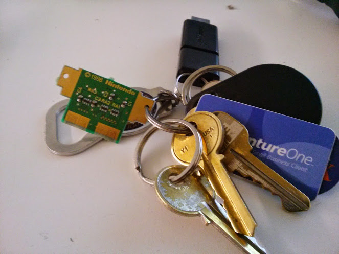The chip makes a good accessory for the keychain.